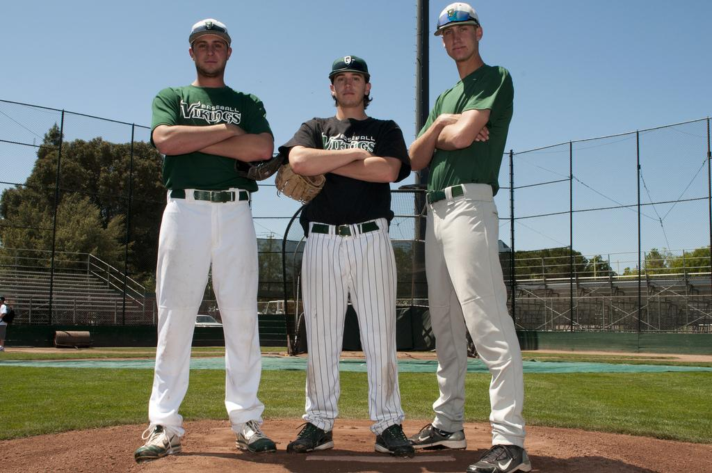From left to right, pitchers Jason Kochan, Steven Swift and Justin Harr (Stevie Chow / The Inquirer)