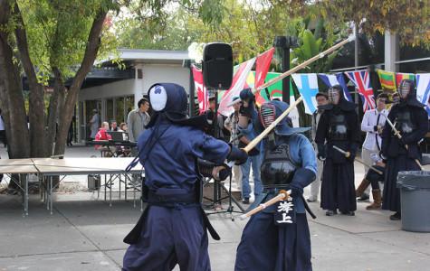 DVC Kendo Club members show their skill for International Education Week.