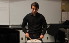 Sohrab Harnlem performing Etude No. 38 by Anthony Cirone in the Music Building room M-101 on Tuesday, Oct. 20th
