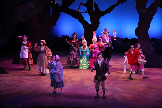 The cast of Into the Woods perform the opening musical number.