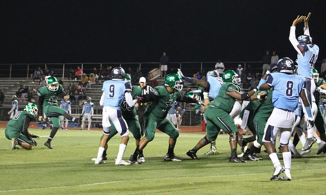 The DVC Vikings football game against the CCC Comets on Nov. 4