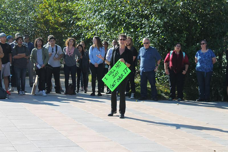 Students+and+faculty+came+together+to+peacefully+protest+in+the+DVC+Commons+on+Mon.+Nov.+14.