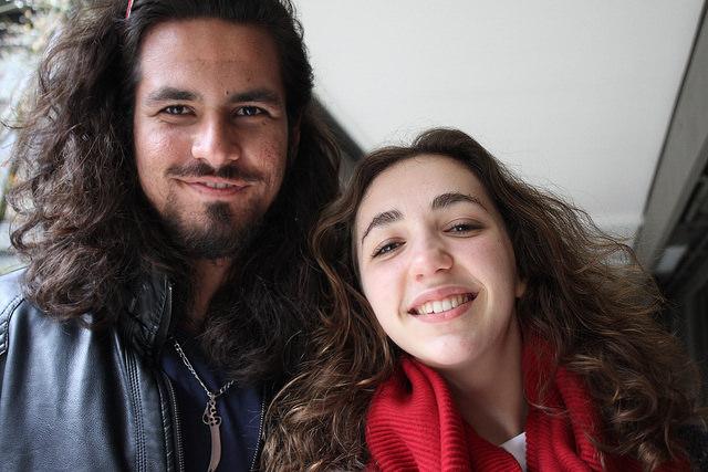Zee Hussaini and Elsa Denis, members of MUN. Hussaini won during the debates in Davis.