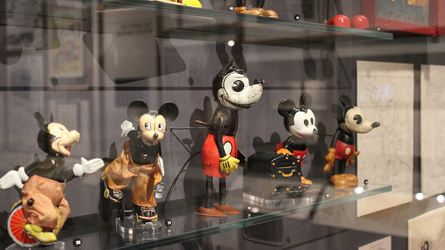 Early Mickey Mouse memorabilia.