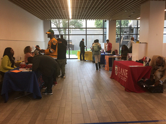Students gather for the HBCU Fair on February 15, 2017.