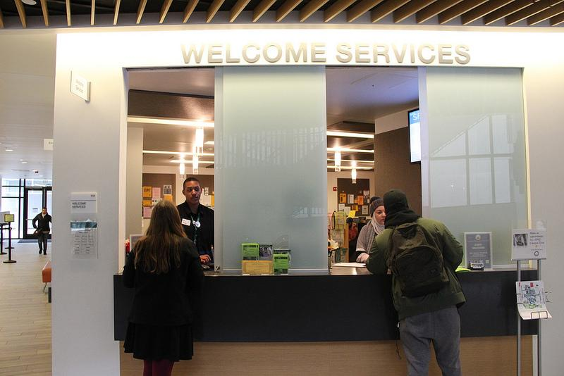 Welcome services, which is located in the Student Services Center.