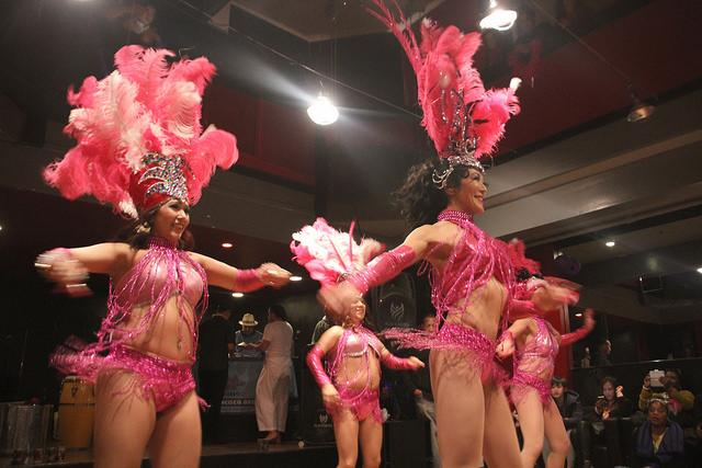 Dancers of Viva La Diva at Balançoire in the Mission District on Feb. 28.