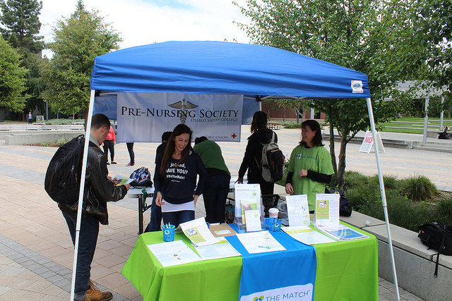 Members of DVC's Pre-Nursing society held a bone marrow drive on Wednesday, April 12 at the Commons.
