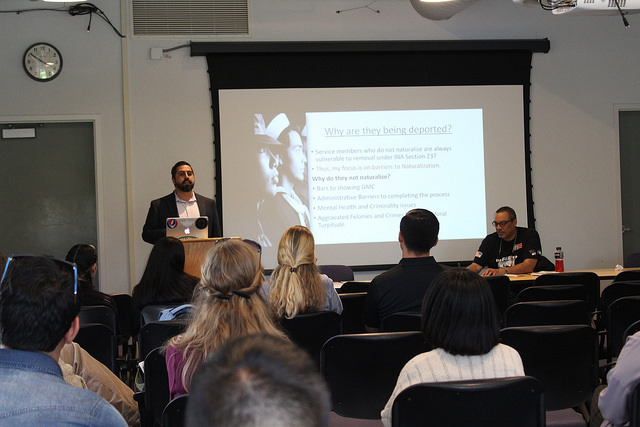 Jose Orta spoke to a DVC audience about deportation policies during a speaker series.