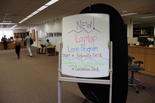 The DVC library's new loan program will allow students to rent school laptops.