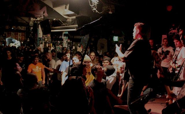 Twitching Tongues performing at 924 Gilman Street.