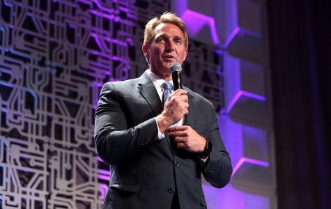 U.S. Senator Jeff Flake speaking with attendees at an event titled
