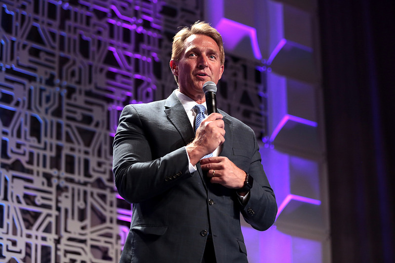 U.S.+Senator+Jeff+Flake+speaking+with+attendees+at+an+event+titled+%22An+Evening+of+Innovation+%26+Celebration%22+hosted+by+DestechAZ+at+the+JW+Marriott+Scottsdale+Camelback+Inn+Resort+%26+Spa+in+Paradise+Valley%2C+Arizona.