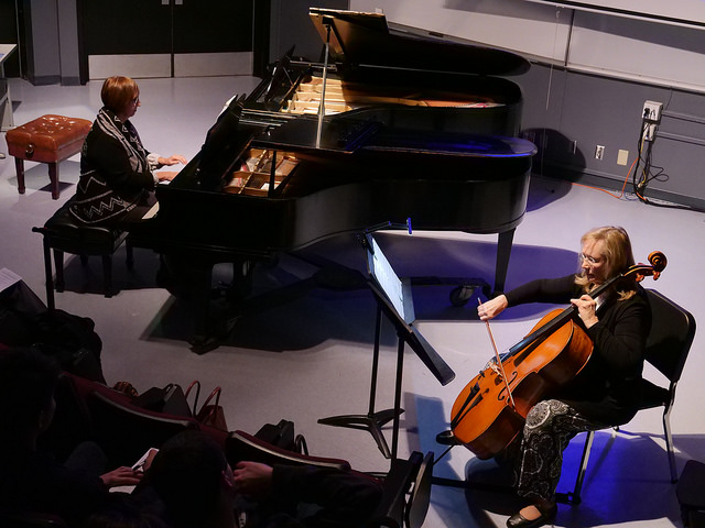 Gwynn+Baumberger+%28Piano%29+and+Paula+Hollowell+%28Cello%29+performing+at+DVC+Piano+Concert+Series+on+Dec.+7%2C+2017+%28Photo+by+Olivier+Alata%29