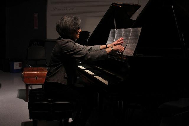 Pianist Karen Snow beginning impromptu No. 3 on Feb. 22, 2018.