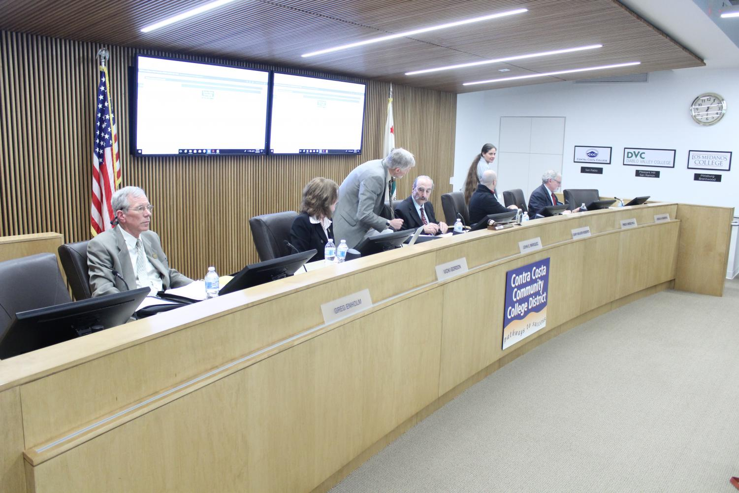 The first 4cd governing board meeting without board president Tim Farley, took place at the 4CD office in Martinez. Feb. 28, 2018.
