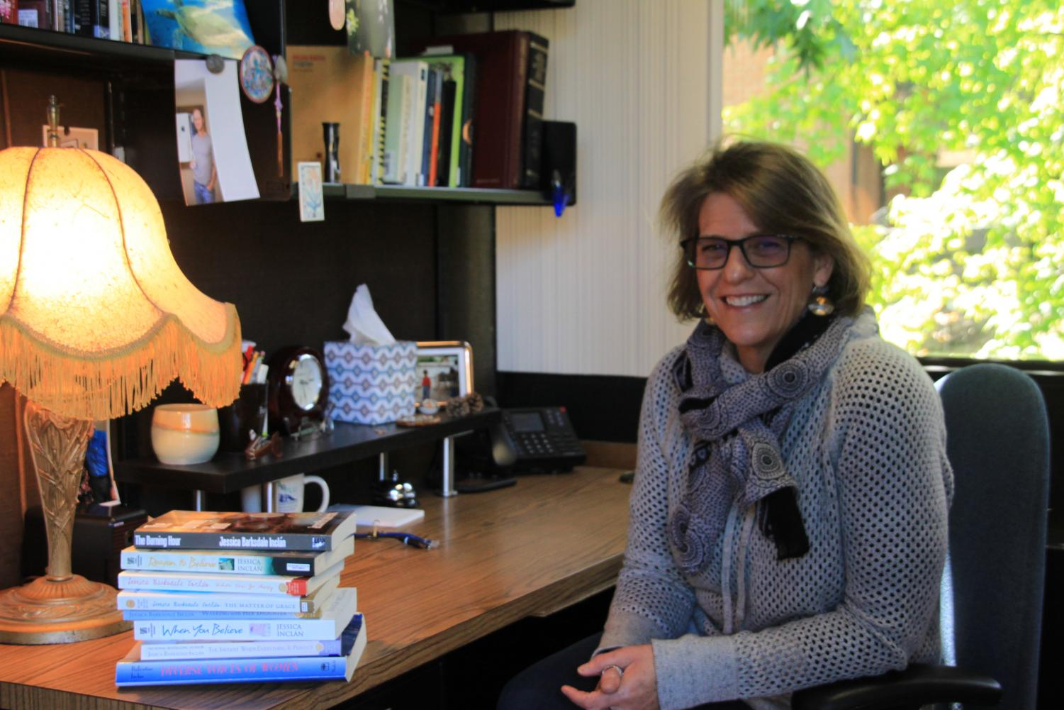 Professor Jessica Parksdale, in her office on April 17, 2018. Parksdale will be retiring from DVC after the Spring semester of 2020.