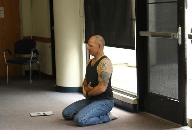 Yoga teacher Scott King