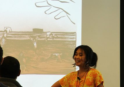 Author shares stories about hardships, sacrifices of refugees with DVC students
