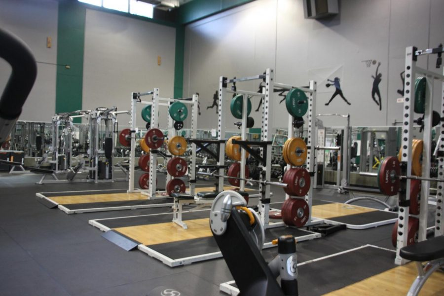 Inside Diablo Valley College's Fitness Center at the Pleasant Hill campus.