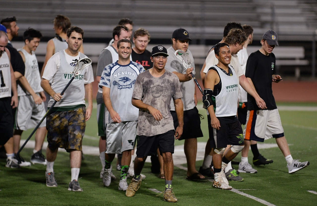 DVC lacrosse Alumni walking off the field post Alumni Game, Aug. 2017 (Courtesy of DVC Lacrosse Club)