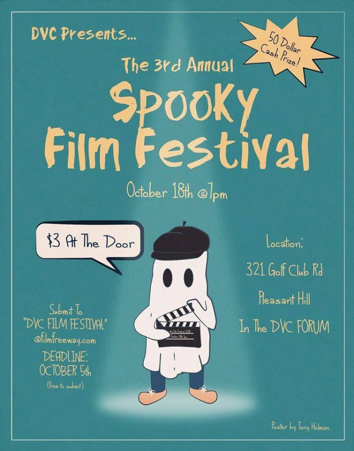 The+poster+for+the+%22Spooky+Film+Festival%2C%22+which+was+created+by+Tony+Holman.++%28Courtesy+of+Mike+Milazo%29
