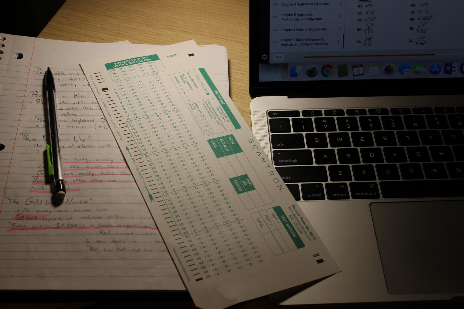 Another tip is to make sure you have all of the scantrons and blue books before you go to your final exam. (Emma Hall/The Inquirer)