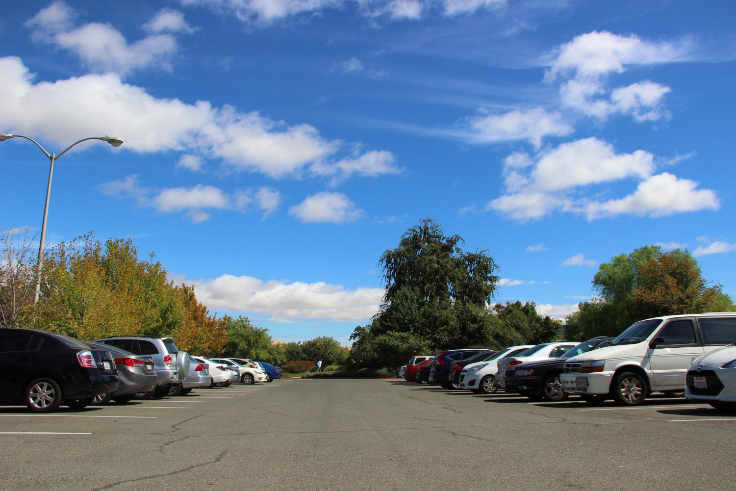 As the semester comes around, a significant number of crimes on campus involve burglaries in the DVC parking lot. (Summer Pagan/The Inquirer).