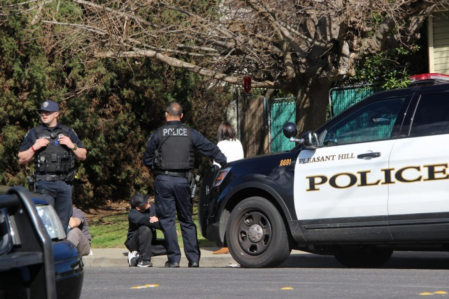 Police were spotted nearby campus on Feb. 6 on the 2100 block of Norse Drive. (Gavin Rock/The Inquirer).