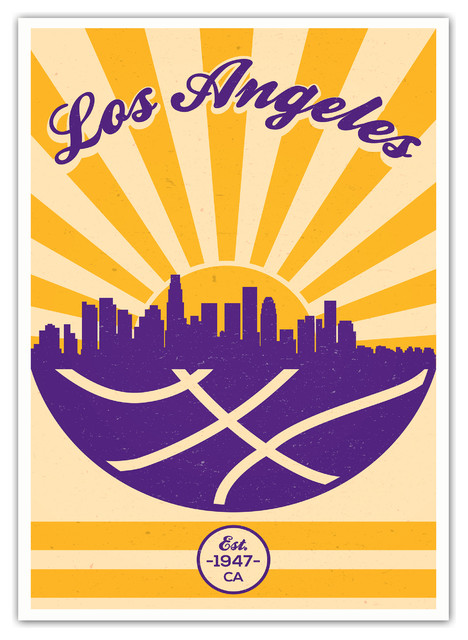 The+Los+Angeles+Lakers%27+vintage+NBA+poster.