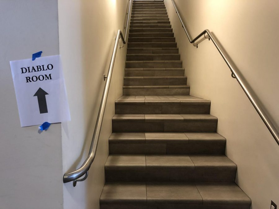 The+staircase+leading+up+the+Diablo+Room.+The+DVC+Inquirer+was+advised+to+not+take+photography+to+provide+a+safe+space+for+students.+%28Samantha+Laurey%2FThe+Inquirer%29.