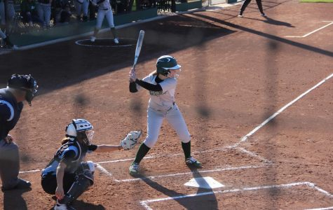 Chelsea Mari up to hit for the Vikings on Feb.21. The Vikings lost 11-18. (Samantha Laurey/The Inquirer).