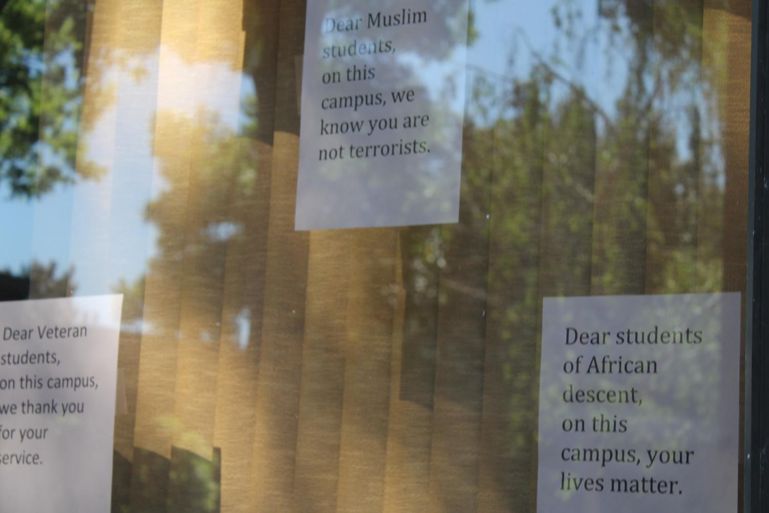 Susan Lamb discussed the idea of posting messages of affirmation around campus, similar to the messages printed outside faculty offices. (Inquirer stock photo).