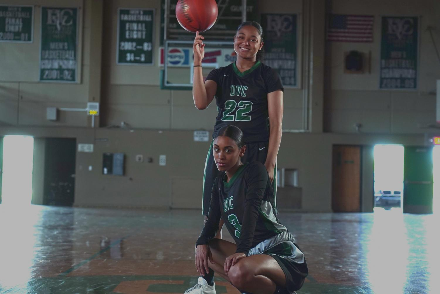 Daisha Abdelkder (below) and Sierra Smith (above) have become close friends, and even closer teammates. (Ethan Anderson/The Inquirer).