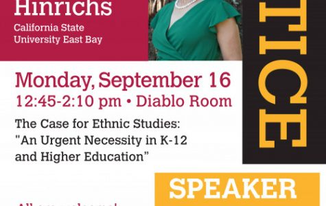 Dr. Marguerite Henrichs visited Diablo Valley College on Sept. 18 to discuss the importance of an Ethnic Studies program. (Photo courtesy of DVC).