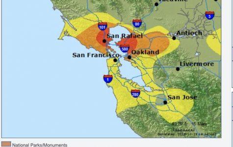The AQI levels for Oct. 28. According to AirNow, Pleasant Hill's air quality is unhealthy. (Photo courtesy of AirNow).