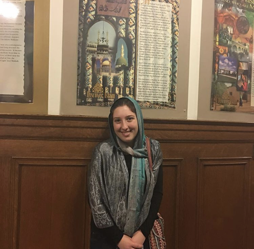 Aryana Hadjimohammadi at Islamic Cultural Center of Northern California in Oakland in 2017. (Photo courtesy of Aryana Hadjimohammadi).