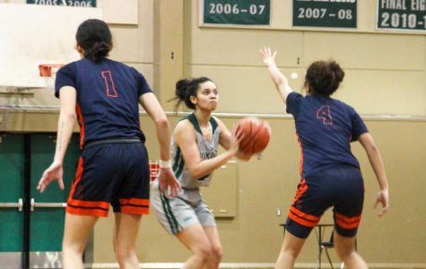 With Playoffs On the Line, Women's Basketball Team Dominates Against the Hawks
