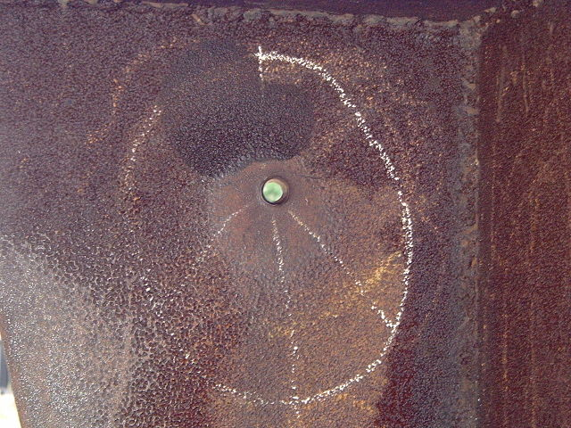 Bullet+hole+in+a+sculpture+by+Don+Drumm%7C+caused+by+a+.30-06+round+fired+by+the+Ohio+National+Guard+at+Kent+State+on+May+4%2C+1970.+%28Photo+by+M.+Stewart%29