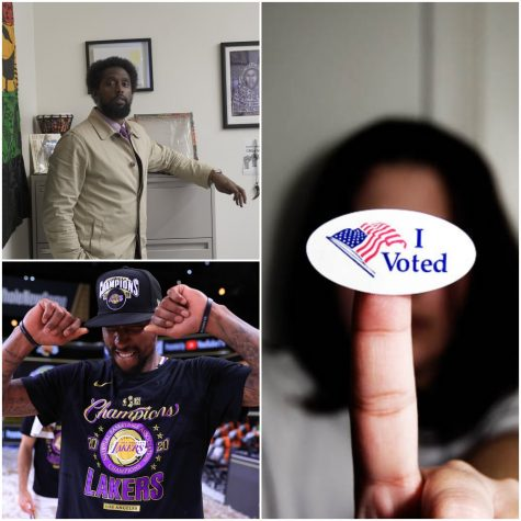 Eric Handy, courtesy of Ethan Anderson. Kentavious Caldwell-Pope, courtesy of the Lakers. Voted sticker courtesy of Jamelah E. on Flickr.