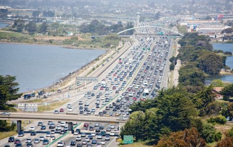 Traffic on I-80, in the East Bay, by Izahorsky on Flickr.