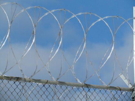 Razor wire at a prison.