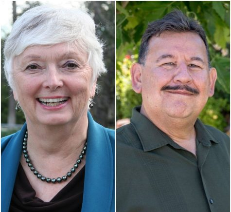 Recently elected Trustees Judy Walters and Fernando Sandoval.