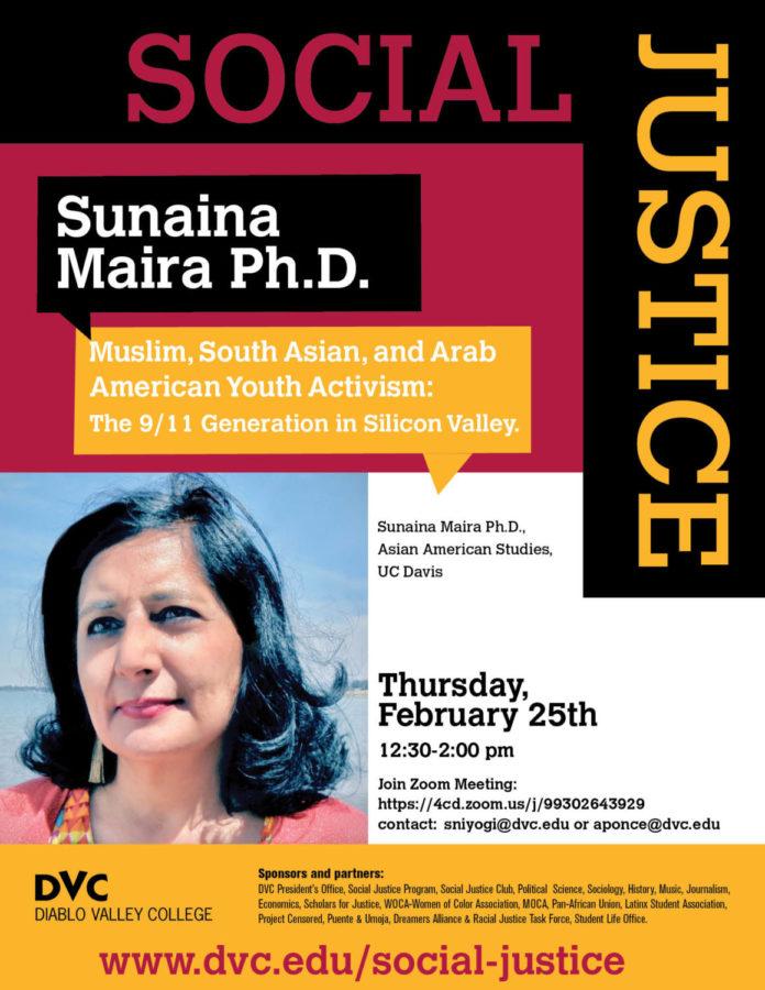 Sunaina Maira Social Justice Series Flyer