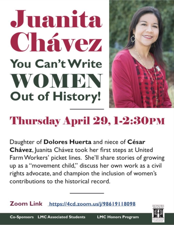 Juanita Chavez, You Cant Write Women Out of History flyer
